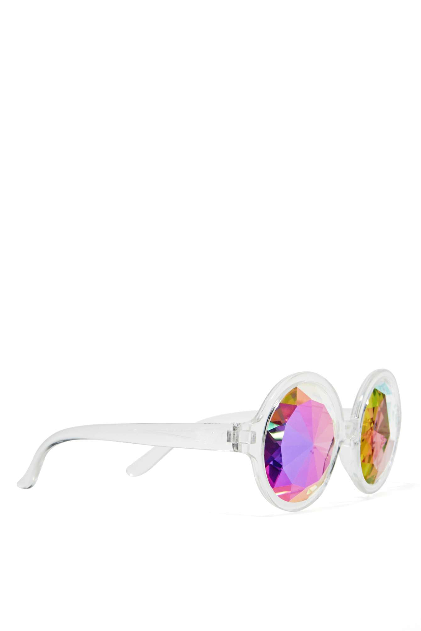 Clear kaleidoscope glasses