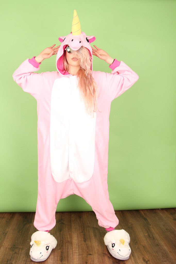 Premium Royal Pink Unicorn Onesie | Onesieful