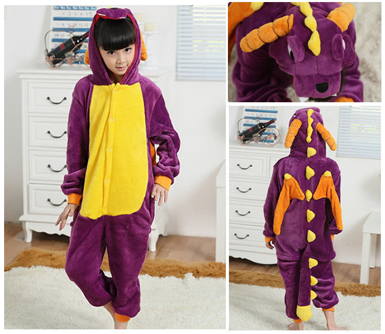 Purple Dragon Kids Onesie | Onesieful