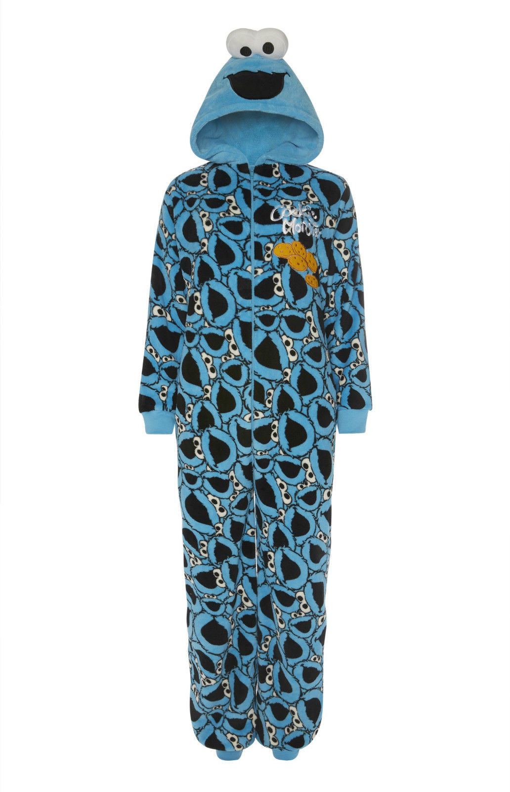 Cookie Monster 'All Over Face Print' Onesie | Primark