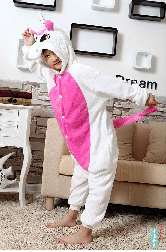 Hot Pink Magical Unicorn Kids Onesie | Onesieful