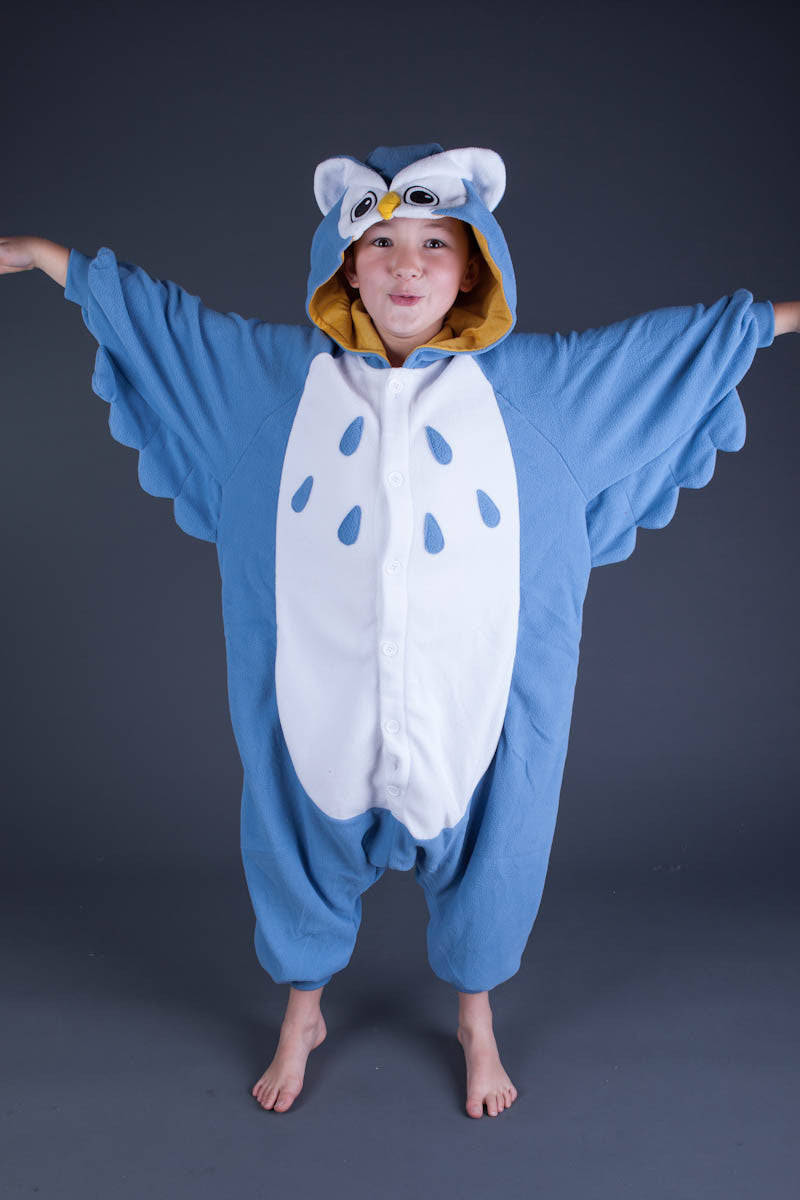 Blue Owl Kids Onesie | Onesieful
