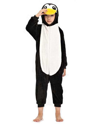 Black Penguin Kids Onesie | Onesieful