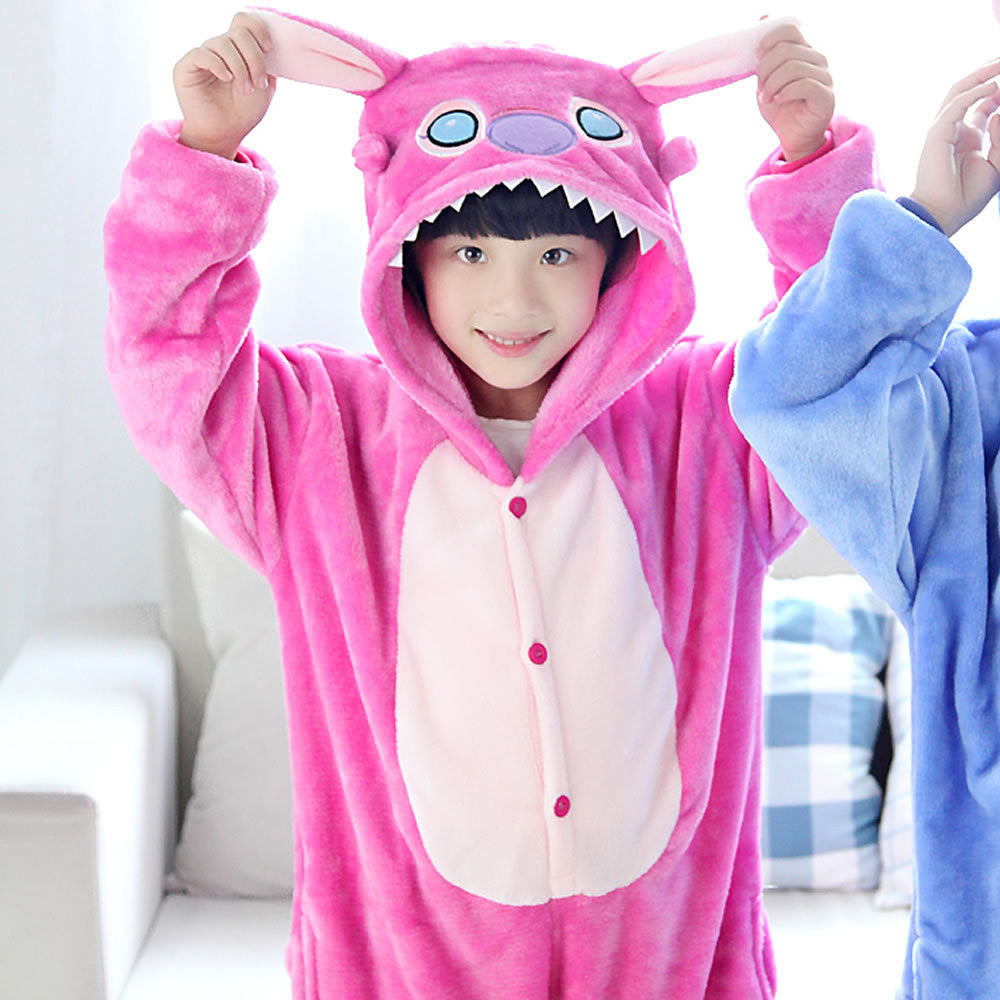 Pink Stitch Kids Onesie | Onesieful