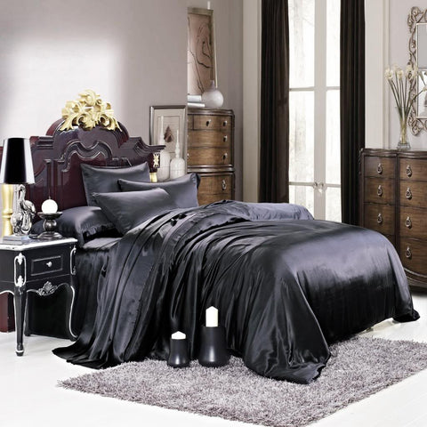 black cover verina duvet covers luxury pillowcase bed linen set quilt