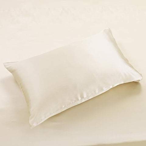 22 momme Golden Luxuer Pair of 2 Silk Terse Pillowcases - LUXUER Silk & Pearl