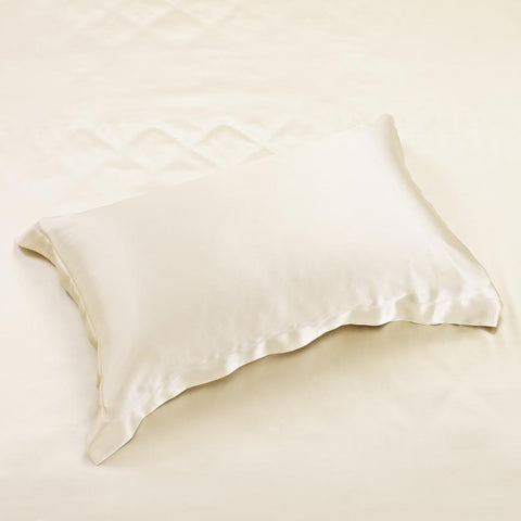 22 momme Golden Luxuer Pair of 2 Silk Oxford Pillowcases - LUXUER Silk & Pearl