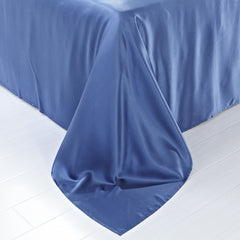 19 momme Royal Blue Luxuer Silk Flat Sheet Single/Twin/Full/Queen/King/Cal.King