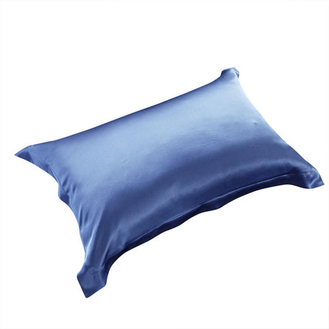 19 momme Royal Blue Luxuer Pair of 2 Silk Oxford Pillowcases - LUXUER Silk & Pearl