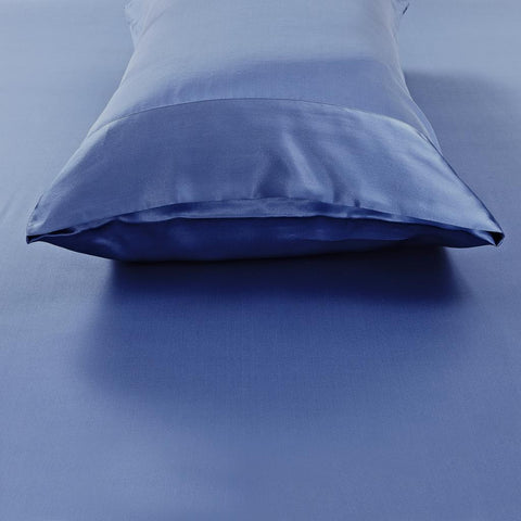 19 momme Royal Blue Luxuer Pair of 2 Silk Terse Pillowcases - LUXUER Silk & Pearl