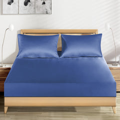 19 momme Royal Blue Luxuer Silk Fitted Sheet Single/Twin/Full/Queen/King/Cal.King