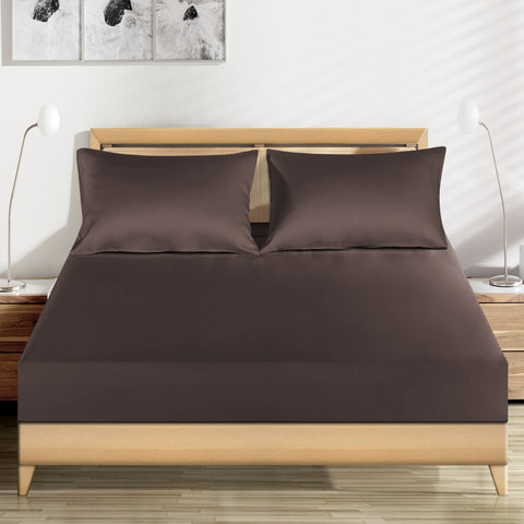 19 momme Chocolate Luxuer Silk Fitted Sheet Single/Twin/Full/Queen/King/Cal.Kin