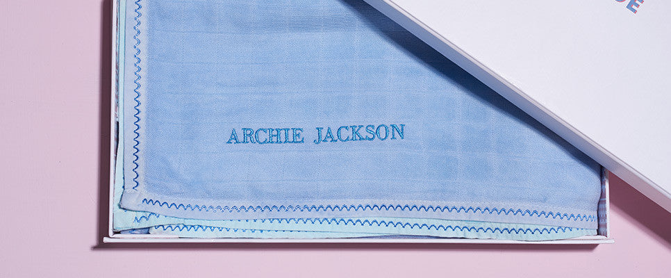 Embroider a name, initials or date for the perfect present