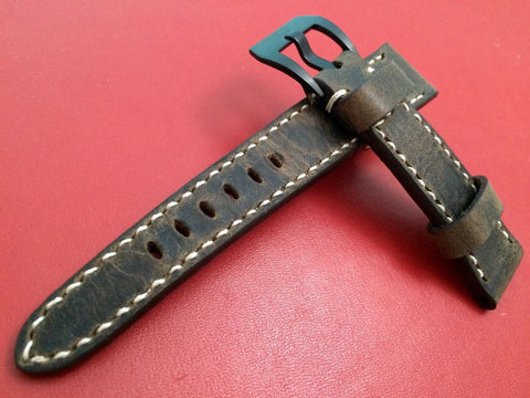 Real Leather Strap for Bremont watches (Dark Brown Color) 22mm/18mm