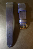 Leather Watch Strap, Rolex watch strap 20mm, 19mm leather Watch Band, Blue Watch Strap 18mm - eternitizzz-straps-and-accessories