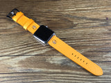 Apple Watch 44mm, 42mm Apple Watch Band, Homer Simpson, Apple Watch 38mm 40mm, iWatch, Epsom Jaune, apple watch strap - eternitizzz-straps-and-accessories