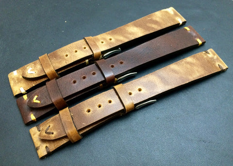 Leather Watch Strap for Rolex, 19mm watch strap, 20mm leather watch band combo set, Brown Watch strap, FREE SHIPPING
