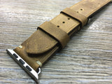 Apple Watch 44mm 40mm 42mm 38mm, Apple Watch Band Strap, Vintage Brown Leather watch strap band,FREE SHIPPING - eternitizzz-straps-and-accessories
