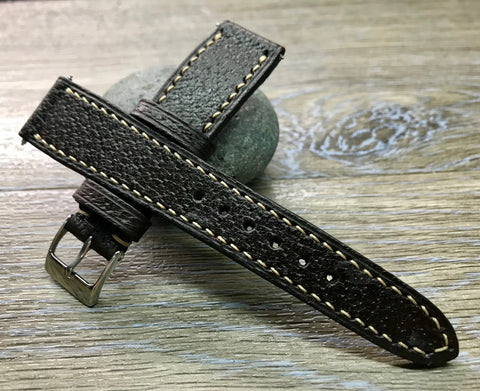 Rolex Watch Strap, 20mm leather Watch strap, 19mm leather watch band, Distress Brown Omega Watch Strap