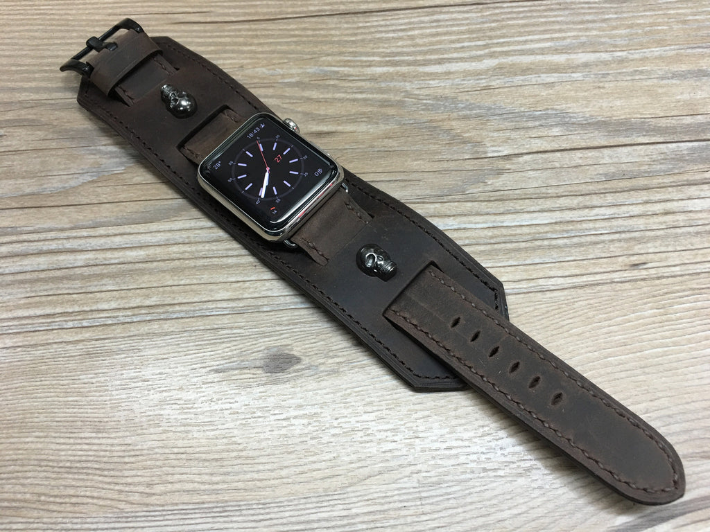 Apple Watch Band, Apple watch 44mm 42mm, Leather Watch Strap, Hermes Watch Band for Apple Watch 42mm - eternitizzz-straps-and-accessories