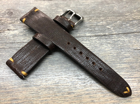 Leather Watch Strap for Rolex, Rolex Watch Strap, Dark Brown Watch Strap for Men, Watch strap 20mm, 19mm Leather Watch Band