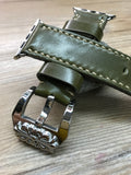 Apple Watch 40mm, Apple Watch Band 44mm, 42mm, 38mm, iWatch, Shell Cordovan, Leather Watch Band, Chrome Hearts, Series 1 2 3 4 - eternitizzz-straps-and-accessories