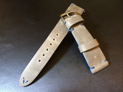 Leather Watch Strap, Leather Watch Band, Grey Watch Strap 20mm, 19mm, Rolex Watch Strap