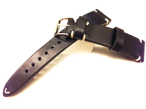 Black Leather Watch Straps in 18mm, 19mm, 20mm, Mens wrist watch band replacement, Leather Watch Bands, Christmas Gift idea