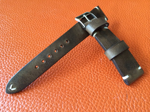 Vintage Real Leather Strap for Rolex, IWC, Omega (Raw Brown) - 20mm/16mm