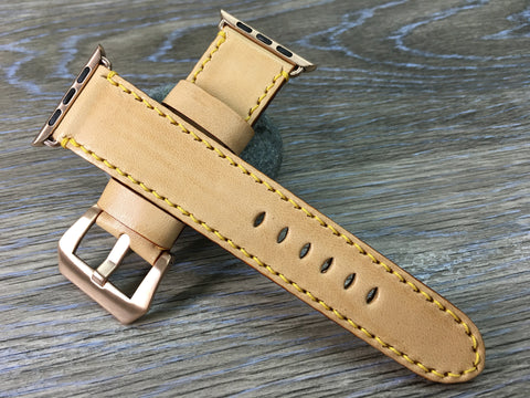 Apple Watch 42mm 44mm, Apple Watch Band 38mm 40mm, Apple Watch Strap, LV Leather Watch Strap