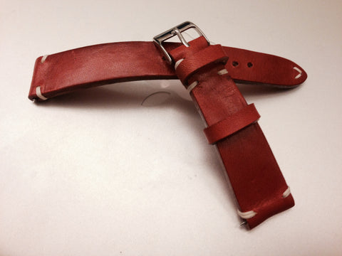 Rolex Watch Strap 20mm, Leather Watch band, Leather Watch Strap 19mm, 18mm, Vintage Orange Watch Strap