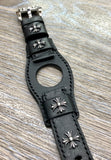 Black Leather Watch Band, 22mm Leather Watch Straps, Personalise Gift idea