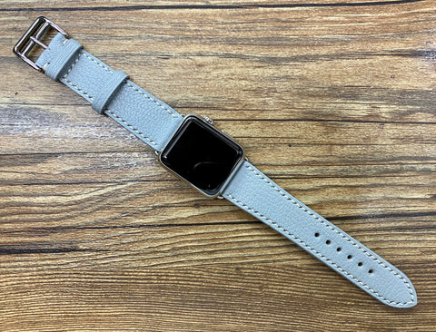 Apple Watch 40mm 44mm, series 6, Single Tour Rallye, iWatch, Apple Watch 38mm, Apple Watch Band light grey, girlfriend gift ideas