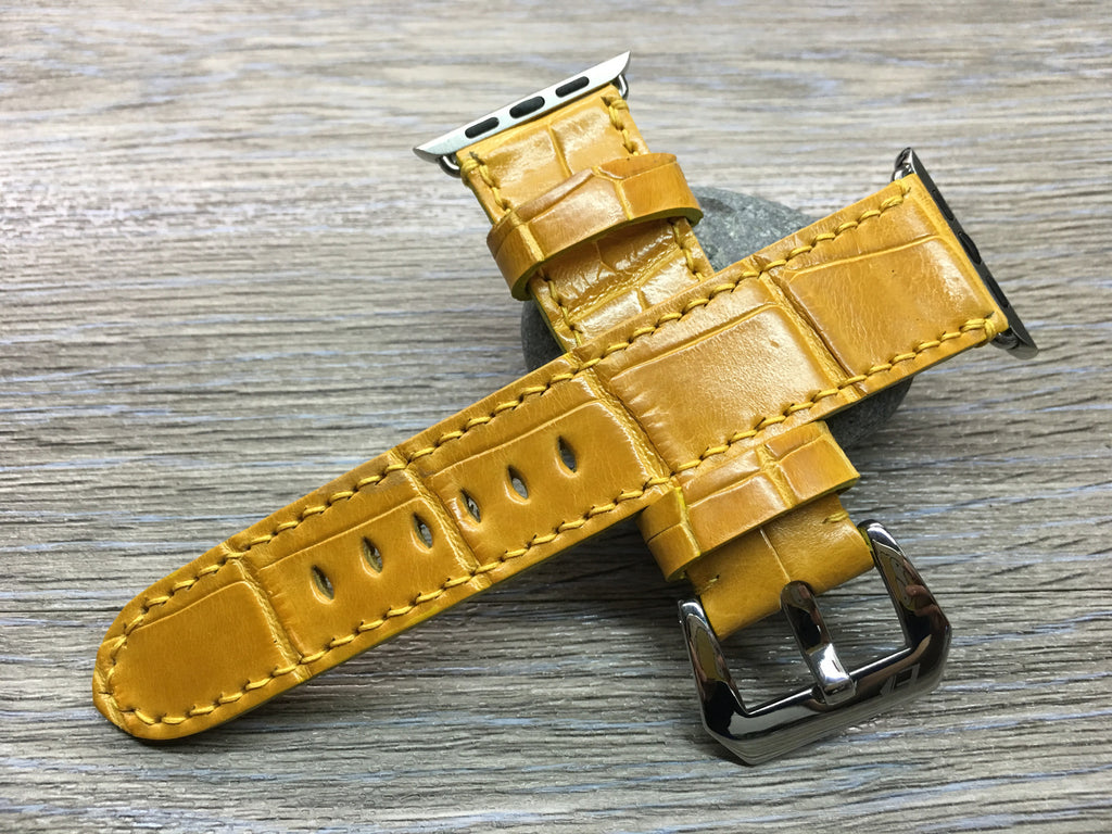 Apple Watch Band | Apple Watch Strap | Alligator Skin Strap For Apple Watch 38mm & Apple Watch 42mm - eternitizzz-straps-and-accessories