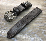 Panerai Watch Band, Leather watch strap 24mm, 26mm watch strap replacement, Distress Brown watch band, Chrome Heart Watch Heart, leather watch strap - eternitizzz-straps-and-accessories