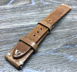 19mm watch strap, Leather watch Strap for Rolex, 20mm watch band straps, Light Brown watch strap - eternitizzz-straps-and-accessories