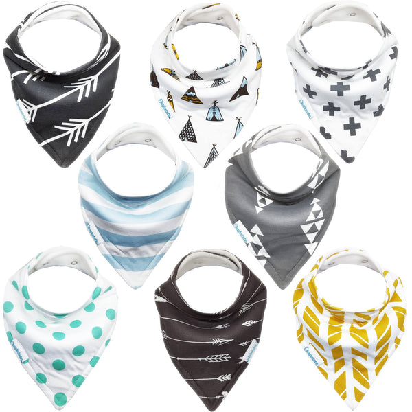 NEW Bandana Bib 8-Packs Available on Amazon