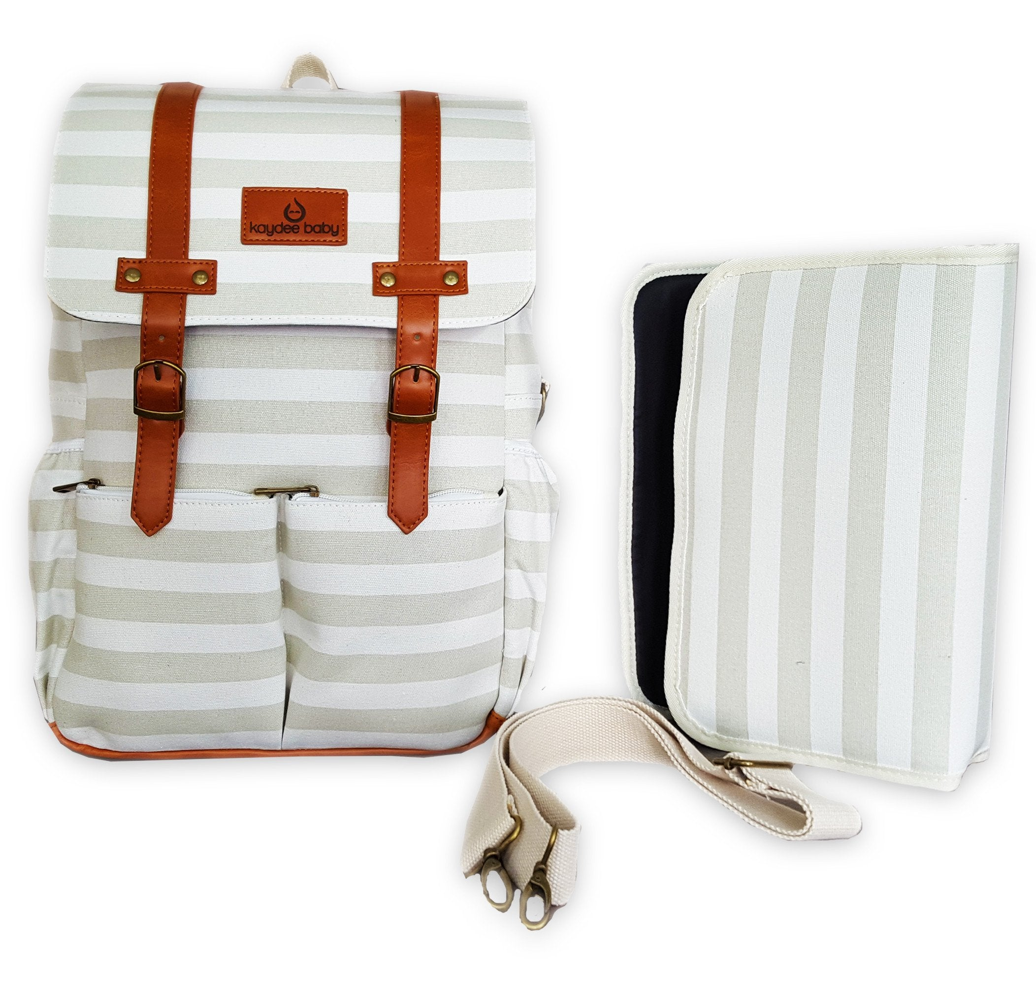 Kaydee Baby Backpack: Now In Gray Stripes!