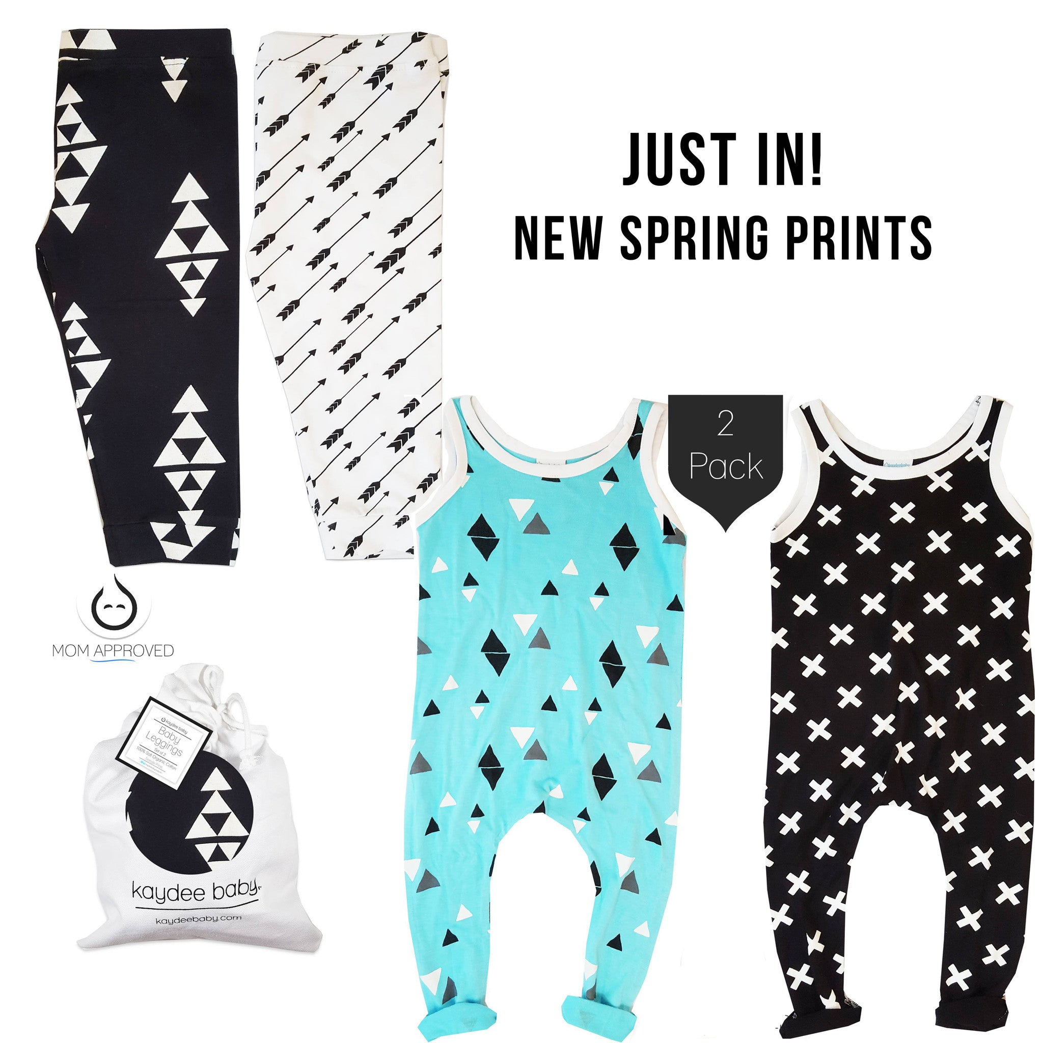 New Kaydee Baby Spring Rompers + Leggings