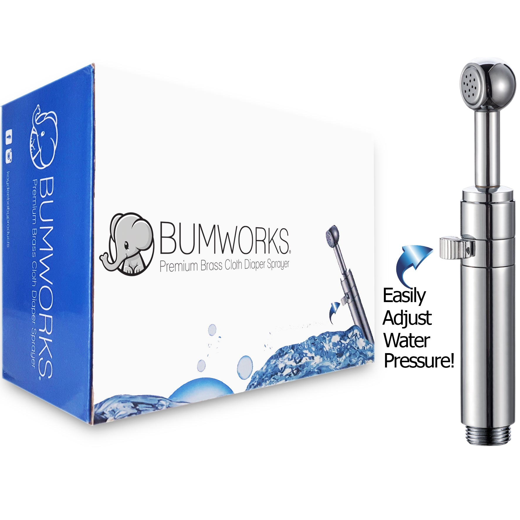 Surprising Bumworks Premium Cloth Diaper Toilet Sprayer Kit Sturdy Brass Chrome Hand Held Bidet With Adjustable Water Pressure Nozzle Metal Hose T Valve And Ibusinesslaw Wood Chair Design Ideas Ibusinesslaworg