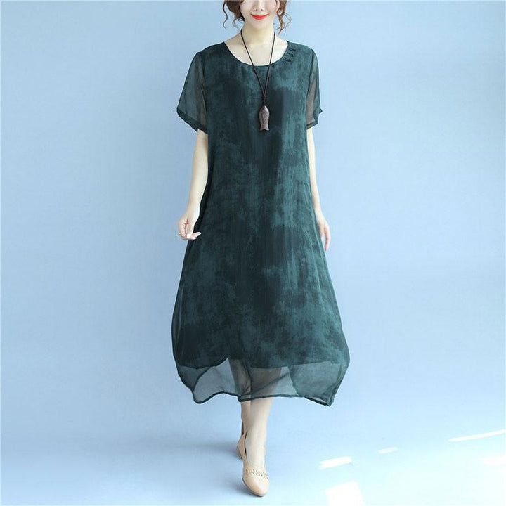 Silk green dress