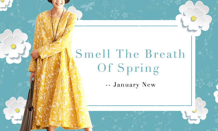 Slightly Smell The Breath Of Spring Fashions