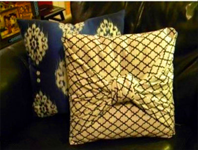 DIY: Knot Pillow Cover