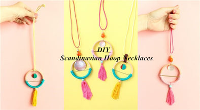 This article will tell you how to DIY Scandinavian hoop necklaces.