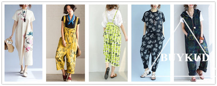 Dress in vintage style to return to the bygone eras. Be a vintage modern lady. Jumpsuits can be one of your choice.