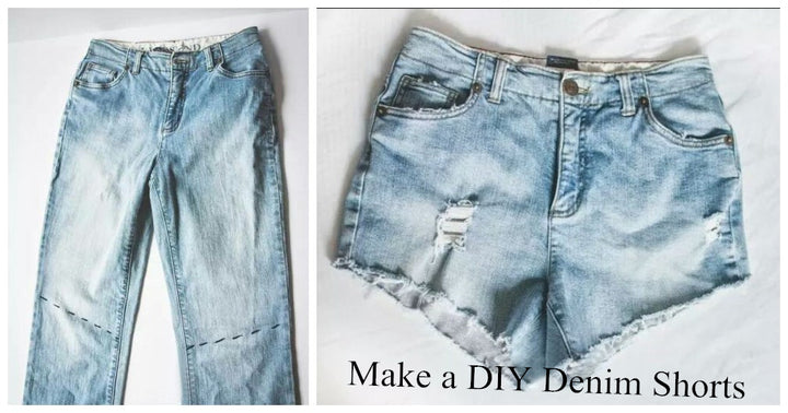 Do you have some old jeans that are at the bottom of your wardrobe? You can turn it into a pair of denim shorts with a few simple steps.