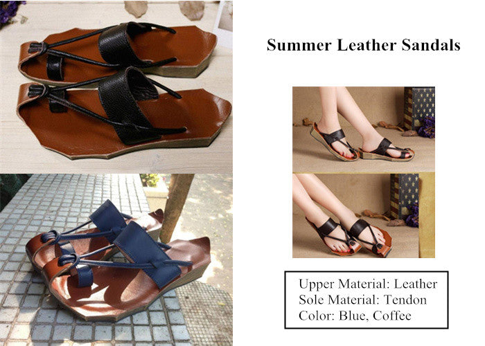 1 Women Summer Leather Sandals