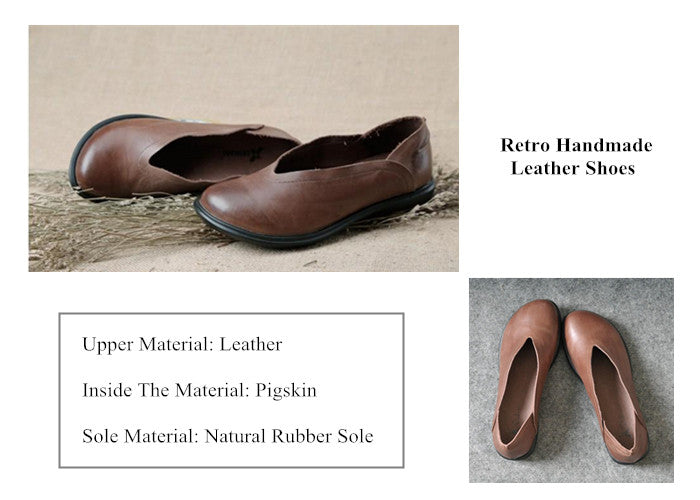 # 2 Retro Handmade Leather Shoes