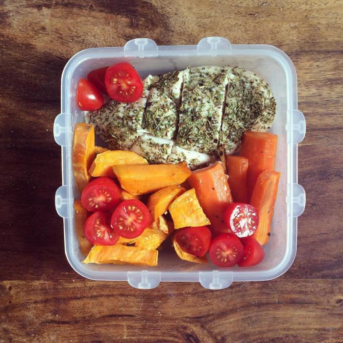 Herb Chicken Breast + Cherry Tomato + Sweet Potato + Carrot
