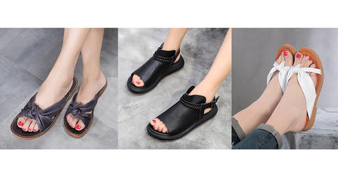 Buykud casual leather shoes for women